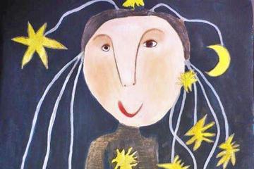Zeichnungen von Edyta Oblong und Tochter Ania