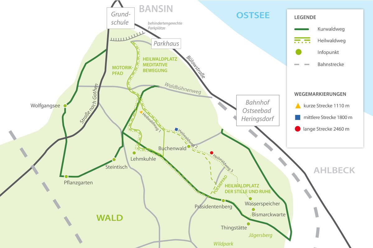 Insel Usedom Karte Ostsee.Kur Und Heilwälder Heilwald Heringsdorf